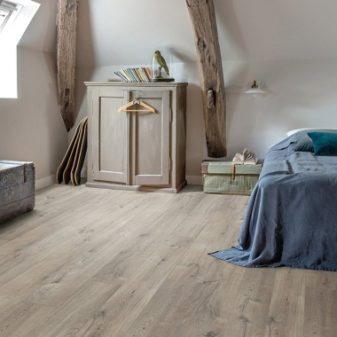 PUCL40106 Cotton Oak Grey With Saw Cuts Quick-Step Vinyl Padló